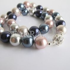 Colormixed shell pearls necklace  bridesmaid pearl by FARRAwedding, $58.00  FARRAwedding.etsy.com