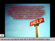 American Consultants Rx provide free medicne help to uninsured and senior Americans.-Charles Myrick -President/CEO