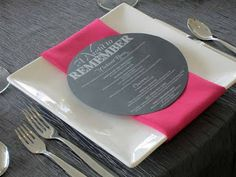 Place Settings On Pinterest Menu Cards Napkins And