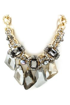 Capri Necklace in Black Diamond Agate and Crystal on Emma Stine Limited Fashion Jewelry Necklaces, I Love Jewelry, Statement Jewelry, Fashion Earrings, Jewelry Accessories, Fashion Accessories, Jewelry Design, Jewelry Making, Jewlery