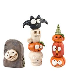 Loving this Halloween Totem Figurine Set on #zulily! #zulilyfinds