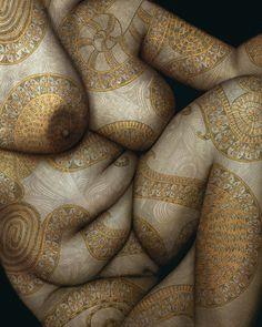 Catherine La Rose: ✿ Yasmina ALAOUI & Marco GUERRA ~ Body Art ✿