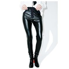 Killstar Ruthless Taste It Leggings (£43) ❤ liked on Polyvore featuring pants, leggings, highwaist pants, graphic print leggings, high-waisted trousers, high-waisted pants and fishnet pants