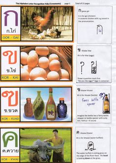 Thai Alphabet 1  Visual Aid to assist memory