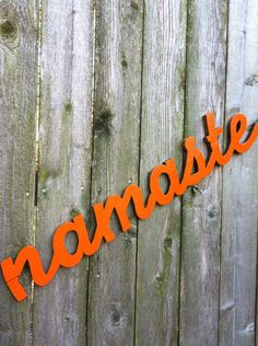 Yoga Namaste sign word lettered wooden Handmade hand painted home decor wall hanging kitchen decor<br> Wooden Words, Wooden Letters, Meditation Space, Meditation Garden, Yoga Meditation, Namaste Sign, Home Yoga Room, Pure Yoga, Yoga Studio Design