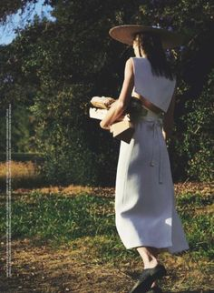 Heading outdoors, Mini Anden takes on the spring season's trend of easy silhouettes and prairie chic looks in Marie Claire UK's April 2017 issue. Photographed by Van Mossevelde + N, the Swedish model looks perfectly at ease in cotton dresses, crisp shirts and oversized straw hats. Surrounded by grass and fresh laundry, Mini shines against …