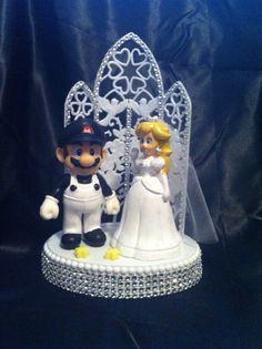 Wedding Cake Topper Mario Video Game Player Gamer Gaming Themed w ...