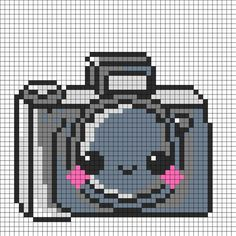 Kawaii Camera Perler Bead Pattern | Bead Sprites | Misc Fuse Bead Patterns