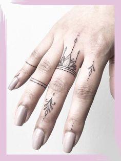 Girl Finger Tattoos, Finger Tattoo For Women, Small Finger Tattoos, Finger Tattoo Designs, Hand Tattoos For Women, Girl Tattoos, Small Tattoos, Tattoos For Guys, Tattoo Women