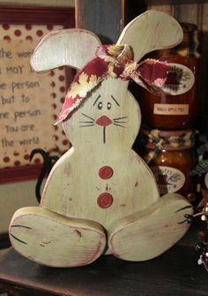 prim wood bunny