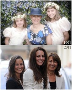 katemiddleton on Instagram: Carole, Catherine and Philippa Middleton, 1991 and 2011
