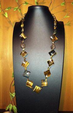 Blue Tigereye Beaded Necklace