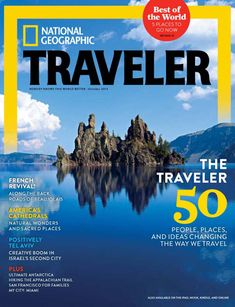 National Geographic Traveler Magazine, 2013 featuring the 50 people, places and ideas changing the way we travel. To contact TWX Magazine Customer Service by Phone about your National Geographic Traveler magazine subscription: 1- (877) 463-3032