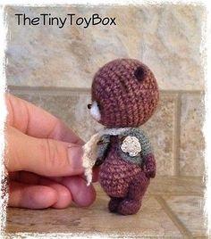 Единственный в своем роде художник миниатюрный медведь/кукла винтажный стиль от thetinytoybox нитки для вязания крючком | Куклы и мягкие игрушки, Медвежата, Авторские работы | eBay!
