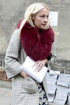 Colored Fur Collar