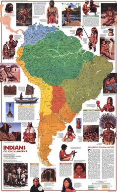 size: Art Print: Maps of South America Poster by National Geographic Maps : Artists Native American Tribes, American Indians, Indian Tribes, National Geographic Maps, South America Map, Latin America, By Any Means Necessary, Black History Facts, Historical Maps