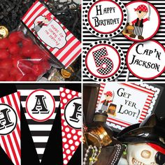 Preparing for Isaac's Pirate party!  Pirate Party - Pirate Birthday Printable Collection by Amanda's Parties TO GO. $29.00, via Etsy.