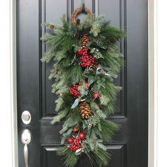 Swag Noël pour porte porte festons couronne de par twoinspireyou