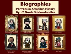NEW AND ON SALE THROUGH 1/1/14--Biographies-Portraits in American History- 41 biographical texts, graphic organizers, activities, and more-by 2nd Grade Snickerdoodles $