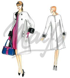 Our Patterns :: Marfy Collection 2014/2015 :: Autumn/Winter :: Sewing Pattern 3518 -