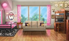 INT. BRISTOLS DORM ROOM - DAY Scenery Background, Living Room Background, Cartoon Background, Animation Background, Background Drawing, Episode Interactive Backgrounds, Episode Backgrounds, New Backgrounds, Anime Places