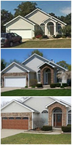 46 best residential garage doors images on pinterest residential what a difference a little stone and new garage and entry door can make install by plyler overhead door company publicscrutiny Image collections