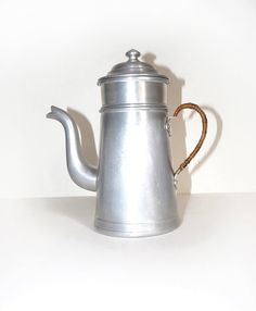 Vintage French Enamel Coffee Pot with a by FrenchVintageShop, €40.00