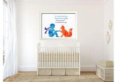 Inspirational wall art, Fox Quote, art print, little prince Fox, Giclee Print, Wall Art, kids room decor, baby room decor, baby shower gift