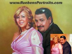 Realistic Oil Painting, Oil On Canvas, Painting Portraits, Hand Painted, Couples, People, Style, Swag, Couple