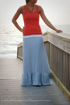 A Small Snippet: from Sheet to Maxi Skirt