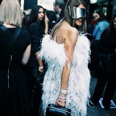 Anna Dello Russo street style... On her way to Alexander Wang's show.