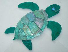 Glass Mosaic Sea Turtles #StainedGlassBeach
