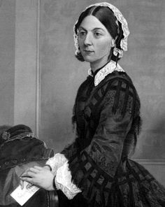 Florence Nightingale was a celebrated British social reformer and statistician, and the founder of modern nursing. She came to prominence while serving as a nurse during the Crimean War, where she tended to wounded soldiers.