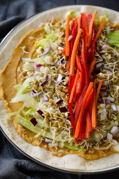 This sprouted lentil vegan hummus wrap is easy and packed with tiny nutritional powerhouses. Choose your favourite combo of veggies for a tasty and healthy meal Sprout Recipes, Lentil Recipes, Vegetarian Recipes, Cooking Recipes, Healthy Recipes, Vegetarian Sandwiches, Going Vegetarian, Vegetarian Breakfast, Vegetarian Dinners
