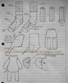 how make sock toys Sock Elephant Pattern, Elephant Socks, Sock Monkey Pattern, Sock Dolls, Rag Dolls, Sock Crafts, Sock Animals, Sewing Toys, Stuffed Animal Patterns