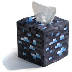 Minecraft Inspired Diamond Ore Cube Tissue Box Cover