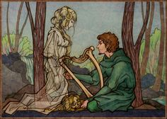 Binnorie 2 by ~Tanmorna on deviantART (from prose form of fairy tale The Twa Sisters or The Singing Bone)