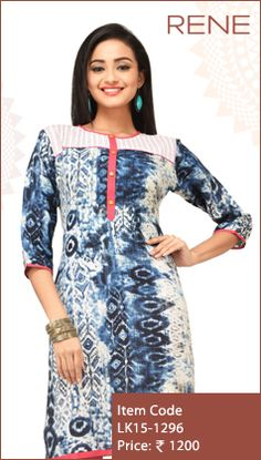 #Blue #Rayon #Kurti #Fashion #Apparels #Clothing #EthnicWear #Style #Women