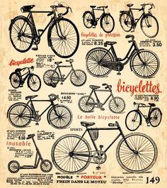 Free Vector Retro bike poster 昔懐かしいの自転車のカタログのようで…