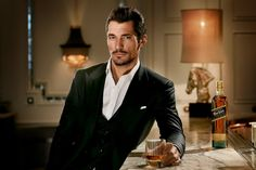 Impeccable 3-piece suit - David Gandy by Ian Derry Ph. for Johnnie Walker Blue Label.