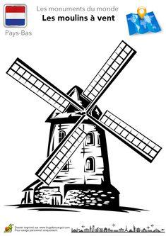 pays bas moulins a vent