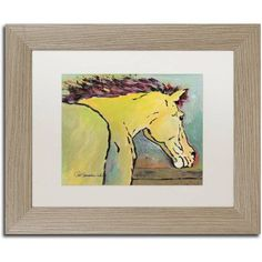 Trademark Fine Art Waiting for Sunrise Canvas Art by Pat Saunders-White, White Matte, Birch Frame, Size: 16 x 20, Green
