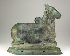 The Sacred Bull Nandi. Chola dynasty, 12th C. India. bronze.