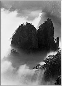 """Wang Wusheng. Huangshan. """"Yellow Mountains"""""""
