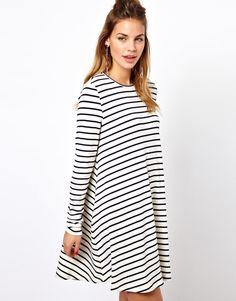 stripey swing dress <3