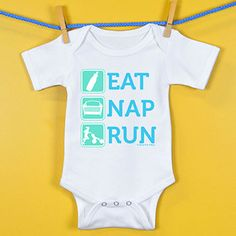 Baby Onesie Eat Nap Run | Running Baby Onesies | Running Baby Clothing