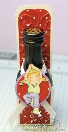 Cabio's Craft Corner: Mini Bottle Holder Tutorial using Magnolia Mini Yoga Tilda