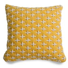 CrissCross Stitched Pillow. Love this texture.