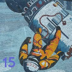 """Mosaic from the series """"Man Conquers the Cosmos"""" by Fritz Eisel, installed in Potsdam, Germany. Restaurants In Potsdam, Pixel Art, Facade, Mosaic, Potsdam Germany, History, Cosmos, Berlin, Ebooks"""