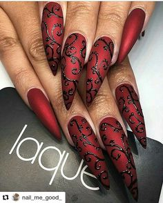 "2,184 Likes, 17 Comments - nailart💅 😍 inspiration (@nailsbenails) on Instagram: ""#Repost @nail_me_good_ with @repostapp ・・・ 👿Feeling all kinds of Gothic vibes from these nails by…"""
